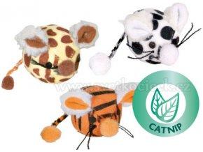 Míček s myším obličejem 4,5 cm - kočičí hračka