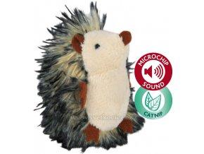 Plyšový ježek s catnipem a mikročipem