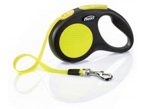 Páskové vodítko Flexi Neon S 5 m, 15 kg