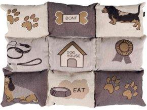 Měkká mozaiková deka pro psy 55 x 40 cm