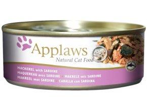 Applaws konz makrela a sardinky 156g1