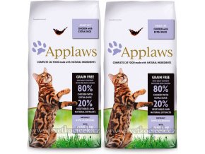 Applaws Cat Adult kachna 2x 7,5 kg