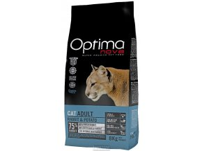 Optima Nova Cat Adult Rabbit Grain Free 8 kg
