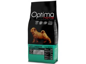 Optima Nova Dog Puppy Digestive GF Rabbit 12 kg