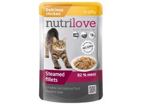 Nutrilove s kuřecím v želé - kapsička pro kočky 85 g