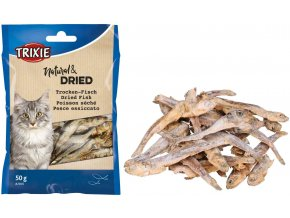Sušené rybičky pro kočky Trixie 5-6 cm, 50 g