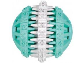 DENTAfun míč s mátou zeleno-bílý 6 cm - hračka pro psy