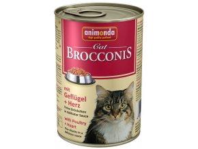 Animonda Brocconis drůbeží a srdce - konzerva pro kočky 400 g