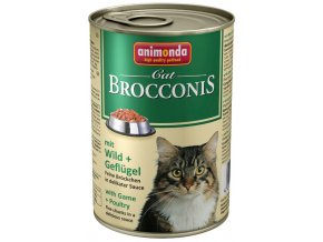 Animonda Brocconis zvěřina a drůbeží - konzerva pro kočky 400 g
