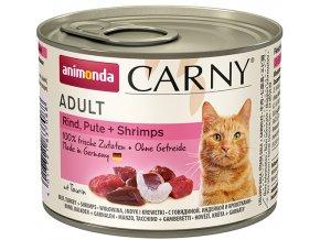 konzerva pro kočky s krevetami