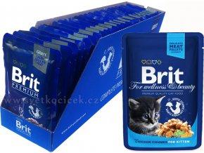 Brit kaps premium 24ks kitten+