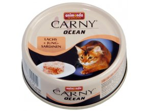 losos se sardinkami pro kočky
