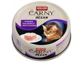 Carny Ocean tuňák a chňapal červený - chutná masová konzerva pro kočičky 80 g