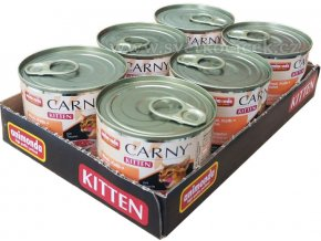 Carny Kitten MULTIPACK hovězí, telecí a kuře - konzerva pro koťata 6x200 g