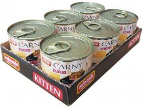 Carny Kitten MULTIPACK hovězí a drůbeží - konzerva pro koťata 6x200 g