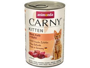 konzerva s telecím masem por kotatka