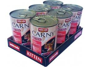 Carny 400g Kitten krůtí srdce 6ks+