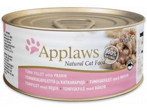 Applaws filé z tuňáka a krevety - konzerva 70 g