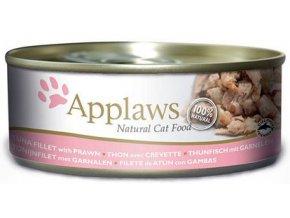 Applaws filé z tuňáka a krevety - konzerva 156 g