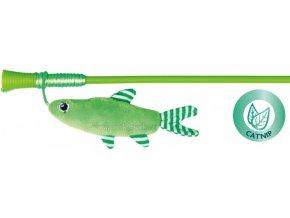 Rybka na udici 42 cm - hračka pro kočky