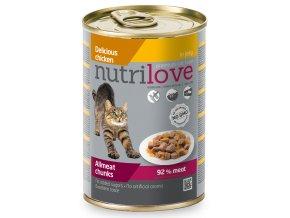 NutriLove cat chunks jelly CHICKEN 400g 2