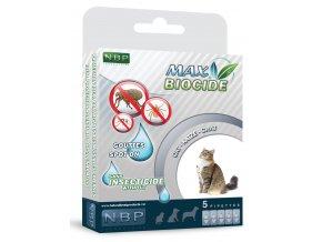Max Biocide přírodní spot-on pro kočky 5x1 ml
