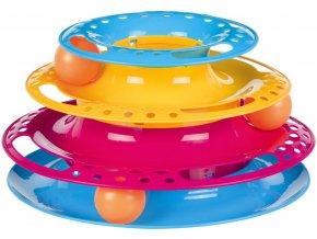 Barevný bubínek s vyjímatelnými míčky - hračka pro kočky