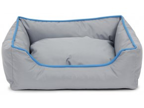 Odolný pelíšek s okrajem šedý 47x37x17 cm