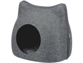 Pelíšek kukaň na zip - kočičí hlava