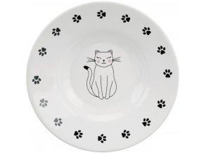 Keramický talířek s kočičím motivem 15 cm, 0,2 l