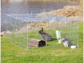 Pozinkovaná ohrádka pro hlodavce a králíky 216x65x116 cm