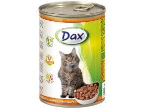 drubezi kousky pro kočku