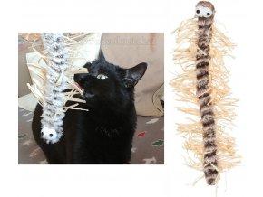 Šustivá stonožka se škádlivými nožkami 33 cm - hračka pro kočky