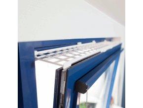 Mříž do okna pro kočky plastová obdélník 75-125 x 16 cm - 1 ks