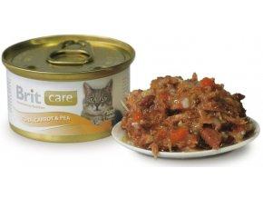 maso s hráškem pro kočky