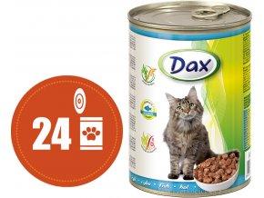 Dax kousky rybí - konzerva pro kočky 24x415 g