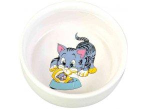 Keramická miska s motivem kotěte 11 cm, 300 ml
