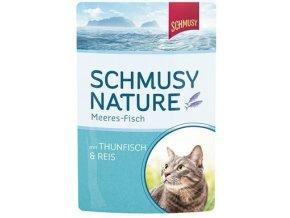 Schmusy Nature Meeres-fisch tuňák, kuře a rýže - kapsička 100 g