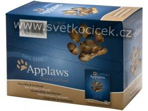 Applaws tuňák a mořský cejn MULTIPACK - kapsička 12x70 g