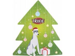 VÁNOČNÍ dárková krabice pro psy s motivem stromečku
