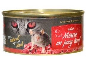 hovězí a myš pro kočky