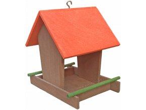 Krmítko s červenou střechou+