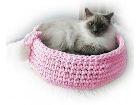 Pelíšek Kollis růžový kočička+