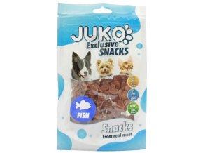 Juko srdíčka lososová - pamlsky pro kočky a psy 70 g