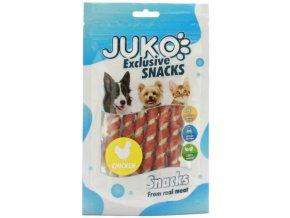 Juko tyčky spirálové s kuřecím masem - pamlsky pro psy 70 g