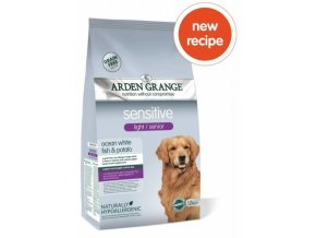 arden grange light senior sensitive with white fish and potato 12 kg