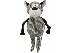 Plyšovo-látkový vlk 32 cm - hračka pro psy
