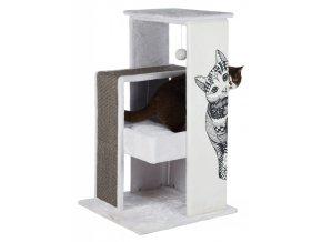 Škrabadlo Maria s kresbou Zentangle v podobě kočičky šedo-bílé