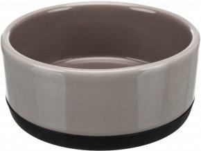 Keramická miska s gumovým spodním lemem 0,4 l/12 cm šedá