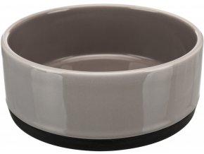 Keramická miska s gumovým spodním lemem 0,75 l/16 cm šedá